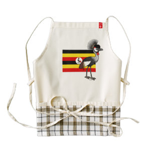 Grey Crowned-Crane of Uganda Zazzle HEART Apron