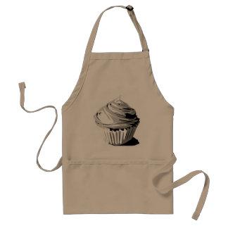 Grey cupcake apron