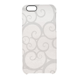Grey curls lines clear iPhone 6/6S case