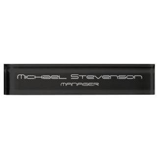 Grey Customize Text Professional Desk Nameplate