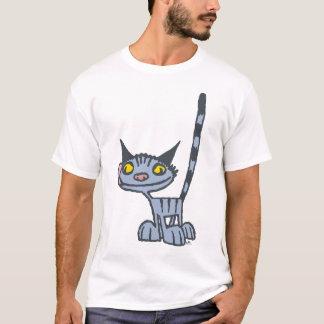 Grey Cute and Cool Kitty cartoon T-shirt