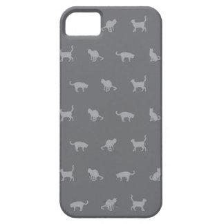 Grey Cute Cat Pattern iPhone 5 Case