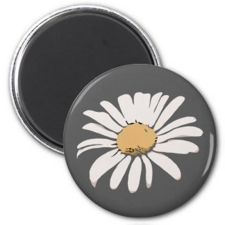 Grey Daisy Floral Magnet