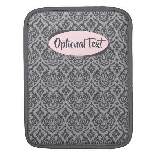 Grey Damask Cat iPad Sleeve