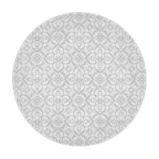 Grey Damask Cutting Board