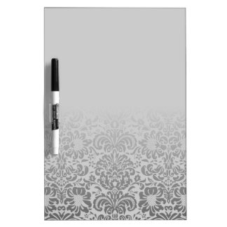 Grey Damask Dry-Erase Board