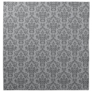 Grey Damask Pattern Napkin