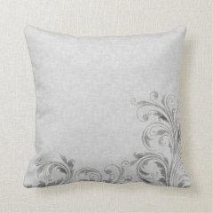 Grey Damask Pillows
