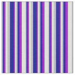 [ Thumbnail: Grey, Dark Blue, Dark Violet & Light Cyan Colored Fabric ]