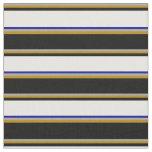 [ Thumbnail: Grey, Dark Goldenrod, Black, Mint Cream, Dark Blue Fabric ]