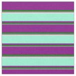 [ Thumbnail: Grey, Dark Green, Purple, Aquamarine, and Lavender Fabric ]