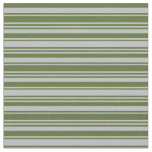 [ Thumbnail: Grey & Dark Olive Green Colored Pattern Fabric ]