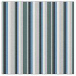 [ Thumbnail: Grey, Dark Slate Gray, Black, Blue & Light Cyan Fabric ]