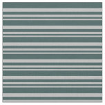 [ Thumbnail: Grey & Dark Slate Gray Colored Lined Pattern Fabric ]