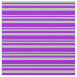 [ Thumbnail: Grey & Dark Violet Striped/Lined Pattern Fabric ]