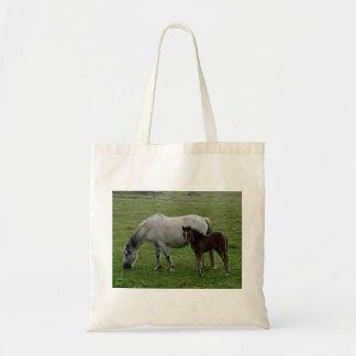 Grey Dartmoor Pony Mare and Foal Tote Bag