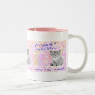 Grey Day Kitty Mug