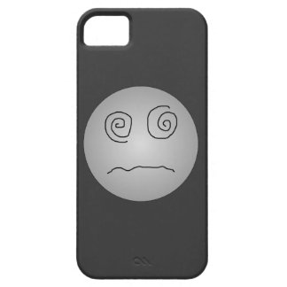 Grey Dazed and Confused Smiley iPhone SE/5/5s Case