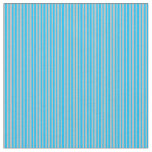 [ Thumbnail: Grey & Deep Sky Blue Colored Pattern Fabric ]