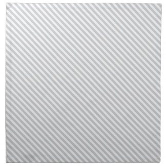 Grey Diagonal Lines Cloth Napkin