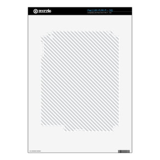 Grey Diagonal Lines Decals For The iPad 2