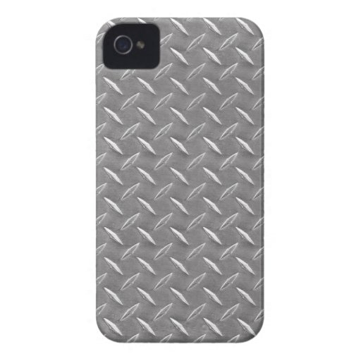 Grey Diamond Plate iPhone 4 Cases