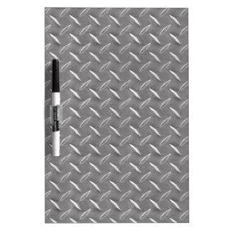 Grey Diamond Plate Dry-Erase Board