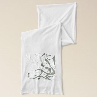 Grey Diwani letters scarf