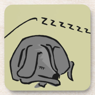 Grey Dog Drink Coaster