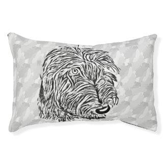 Grey dog original artwork dog bed
