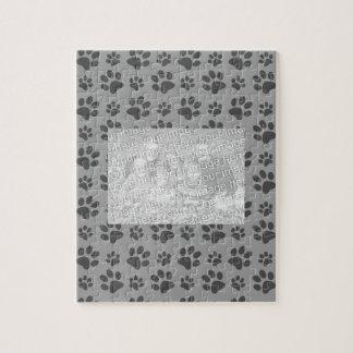 Grey dog paw print pattern puzzles