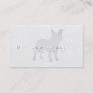 grey dog silhouette business card