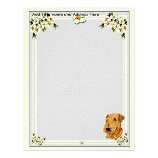 Grey Dogwood letter paper Customized Letterhead