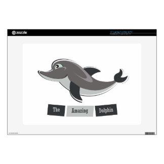 "Grey Dolphin 15"" Laptop Skin"