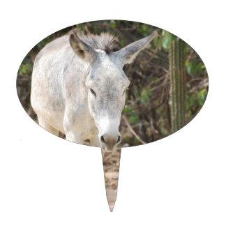 Grey Donkey Cake Topper