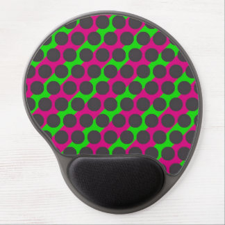 Grey Dot Pink Green Gel Mousepad