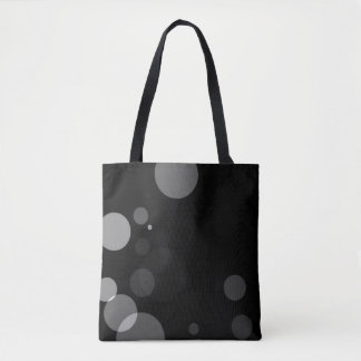 Grey Dots On Black Background Tote Bag