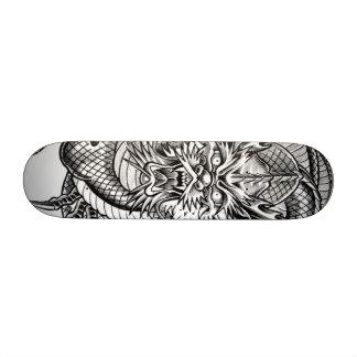 grey dragon skateboard deck