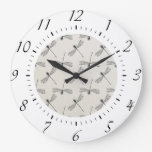 Grey Dragonfly Pattern Wall Clock