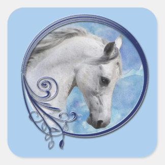 Grey Dream Square Sticker