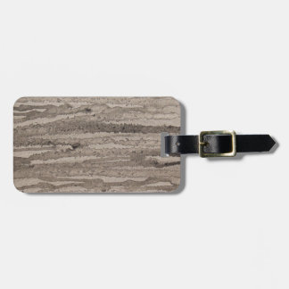 Grey Edge- original abstract acrylic painting Luggage Tag