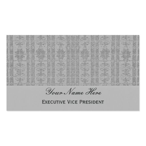 Grey Elegant Pattern Double-Sided Standard Business Cards (Pack Of 100)