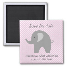 Grey Elephant Save The Date Baby Shower Magnet at Zazzle