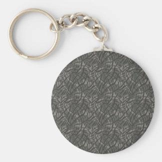 Grey Elephant Skin Pattern Keychain