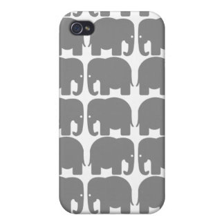 Grey Elephants Silhouette Speck Case iPhone 4/4S Cases