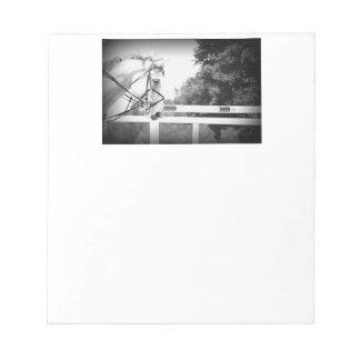Grey English Horse Note Pad