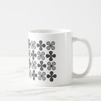 Grey examined classic white coffee mug