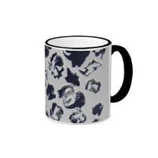 Grey examined ringer coffee mug