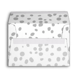 Grey Expression Ombre Dots Envelope