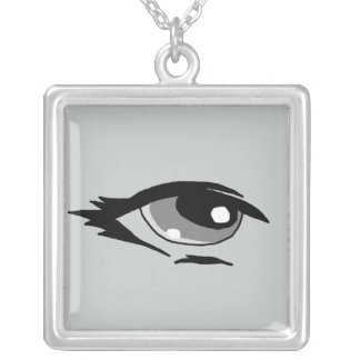 Grey eye design matching jewelry set